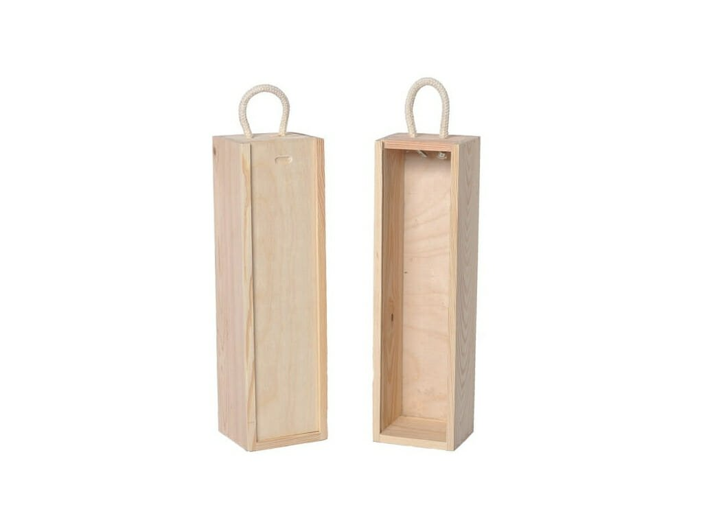 drevena krabicka na jedno vino zasuvna natur