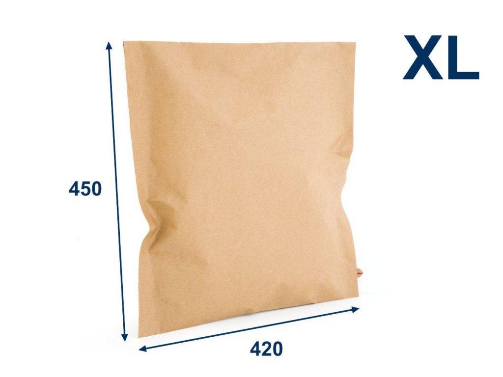 obalka papierova kraft 420x450 velxl 2 lepiace pasky