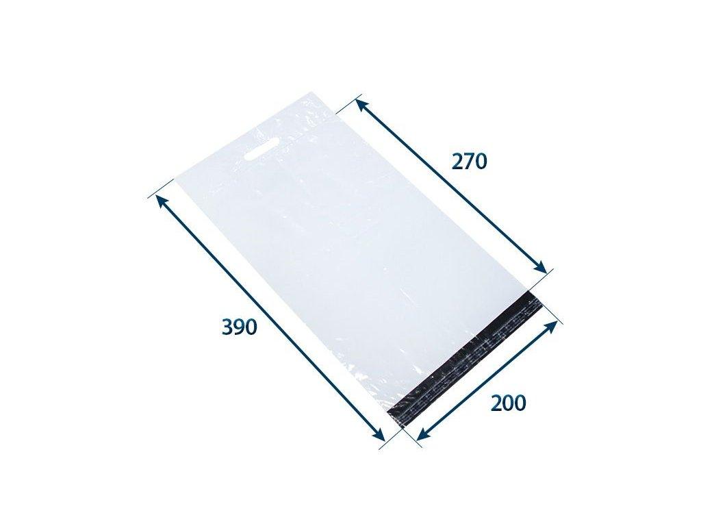 obalka plastova samolepiaca bielo cierna 200 x 27080 hr 006 s uchom