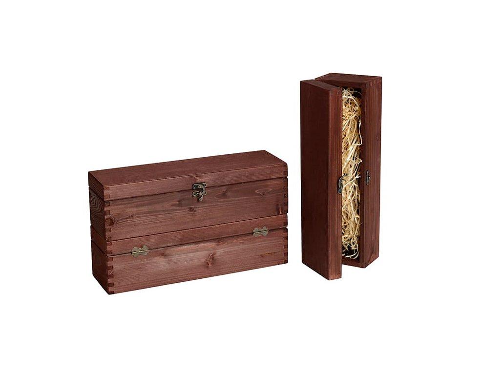 drevena krabicka na vino zatvaracia vlna mahagon VK 1 11 W