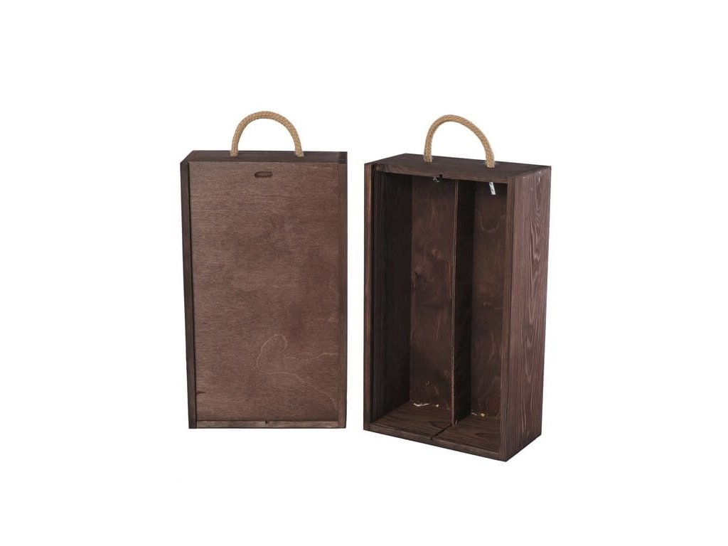 drevena krabicka na 2 vina vysuvna palisandrova V 2 13