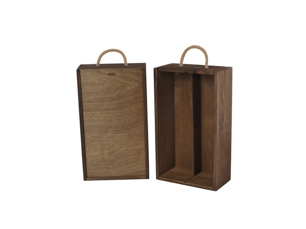 drevena krabicka na 2 vina vysuvna orechova V 2 12