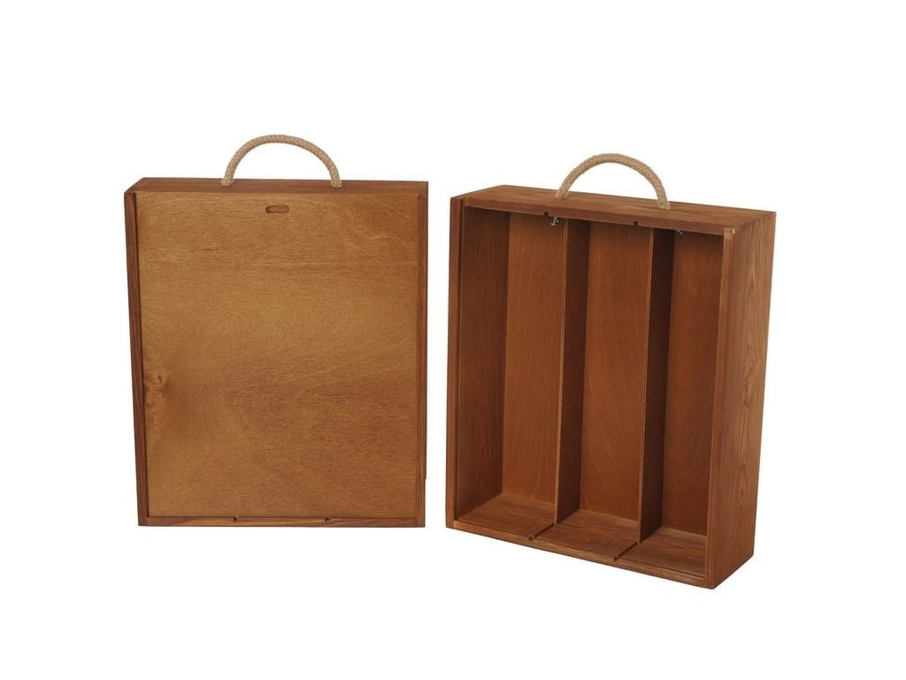 drevena krabicka na 3 vina vysuvna zazvorova V 3 16