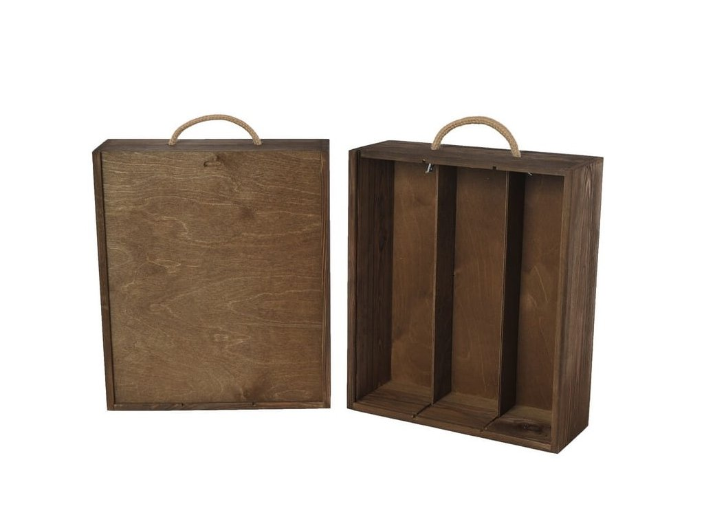 drevena krabicka na 3 vina vysuvna orechova V 3 12