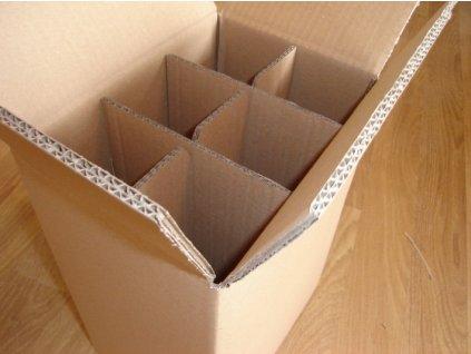 kartonova krabica na 6 vin