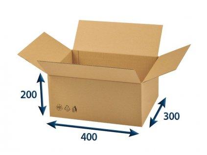 kartonova krabica 400 x 300 x 200 3vvl chlopnova