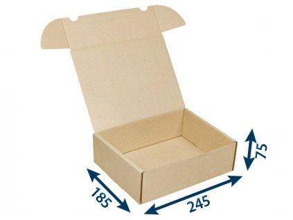 krabica postova hneda 245 x 185 x 75 3vvl