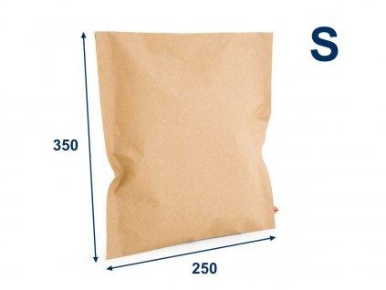 obalka papierova kraft 250x350 vels 2 lepiace pasky