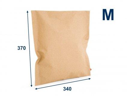 obalka papierova kraft 340x370 velm 2 lepiace pasky