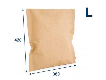 obalka papierova kraft 380x420 vell 2 lepiace pasky
