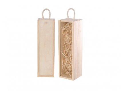 drevena krabicka na jedno vino zasuvna natur vlna