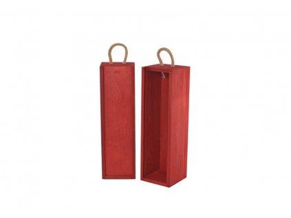 drevena krabicka na vino vysuvna cervena V 1 19