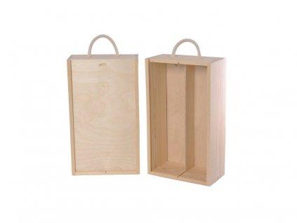 drevena krabicka na vino 2 zasuvna n