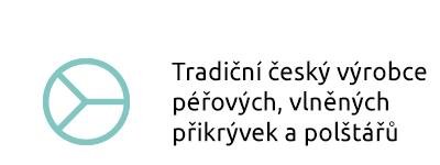 Tradiční český výrobce péřových, vlněných přikrývek a polštářů