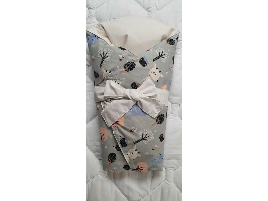 Dětská peřová zavinovačka - šedá koloušek