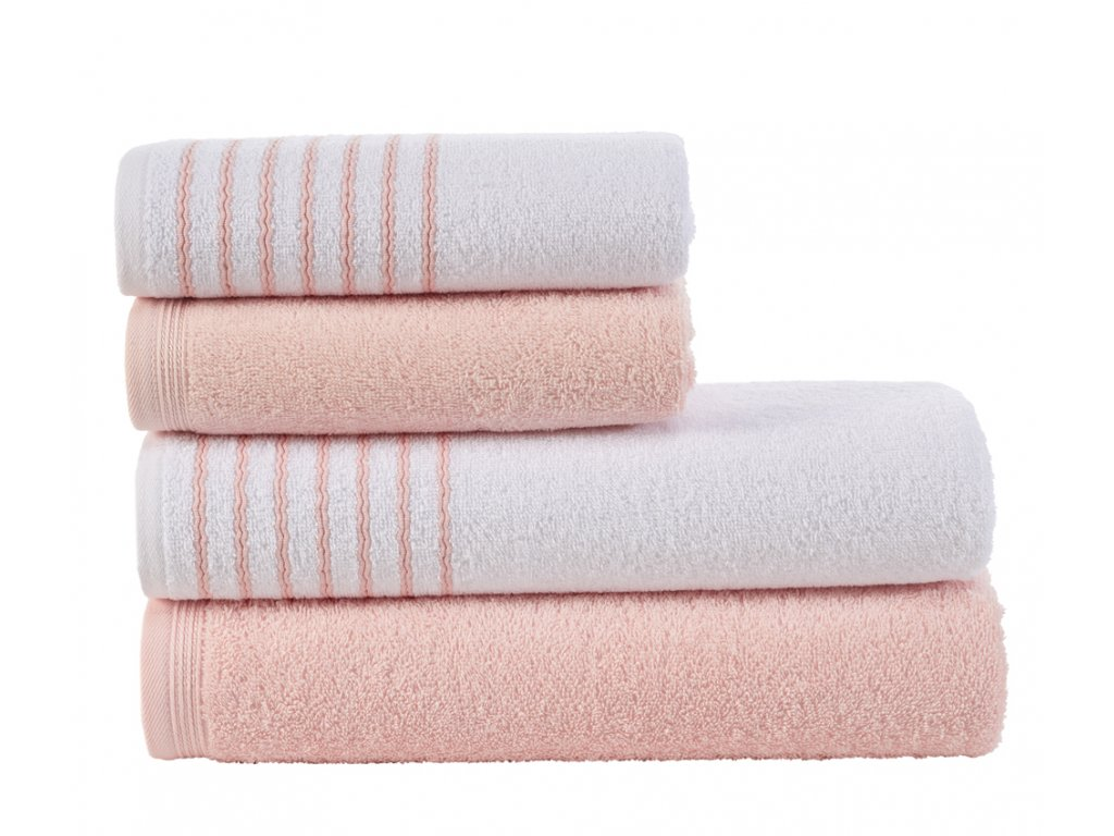 Sada ručníků a osušek Davos Pudrová