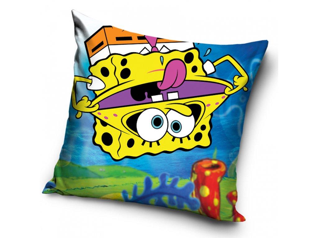 Povlak na polštářek Sponge Bob Vzhůru Nohama