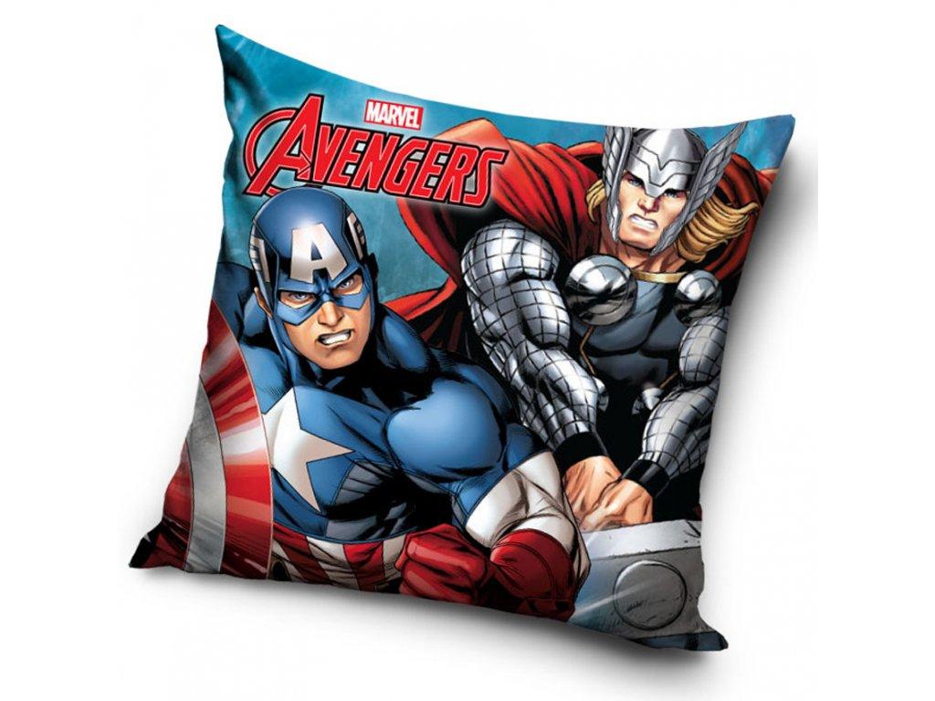 Povlak na polštářek Avengers Capitán Amerika a Thor