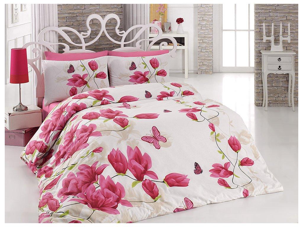 Bavlněné povlečení Alize Pink Velikost: 220x200 + 2x 70x90 + 2x 50x70 cm