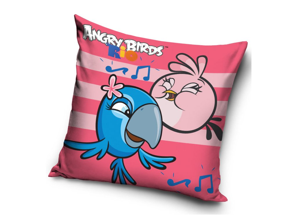 Polštářek Angry Birds Rose Stripes