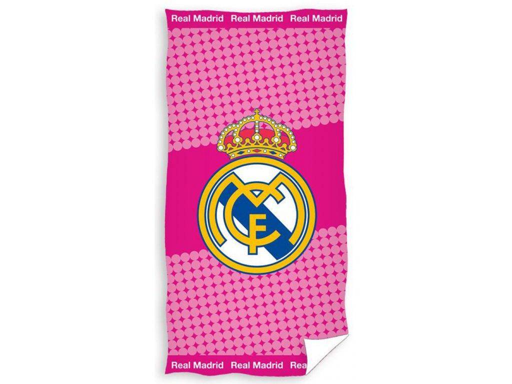 Fotbalová osuška Real Madrid Růžová