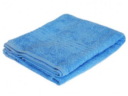 Froté ručník s bordurou DOMEDIA Modrý