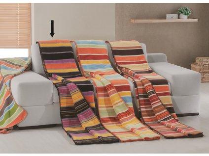 Bavlněná deka Belts Oranžová