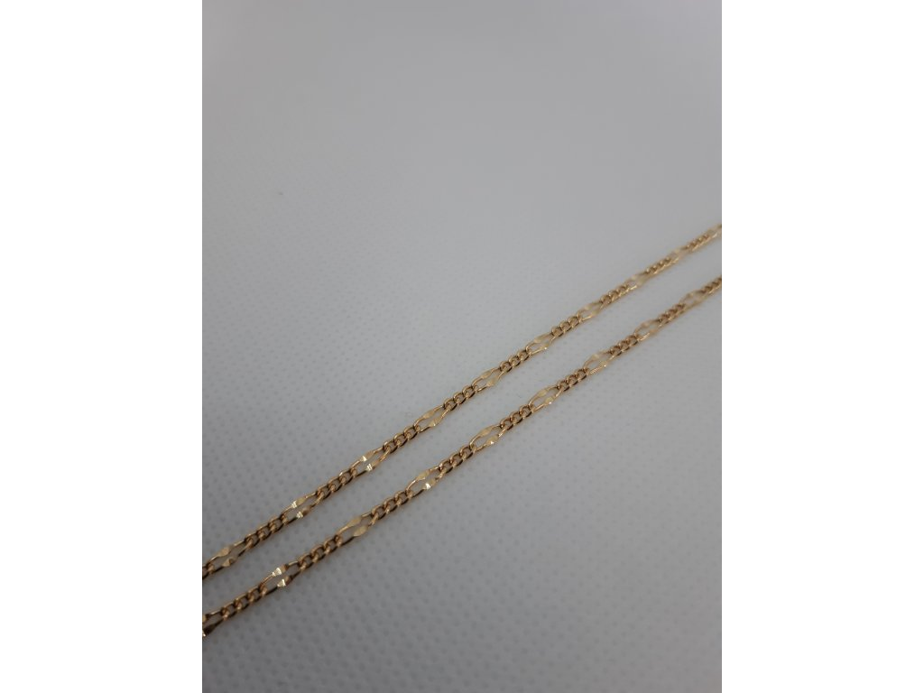 Zlata retiazka figaro sploštene