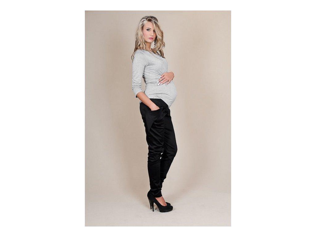 Těhotenské kalhoty Aladinky černé Těhotenské kalhoty Aladinky černé ... 8a937df535