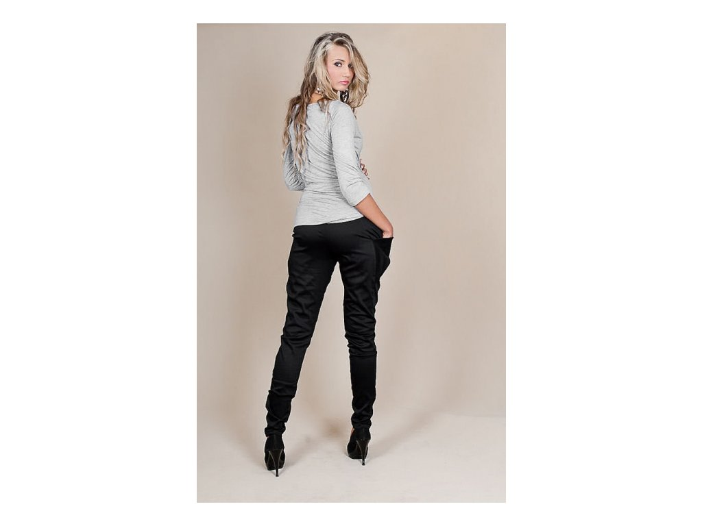 Těhotenské kalhoty Aladinky černé - Já Ty My 2543a6beea