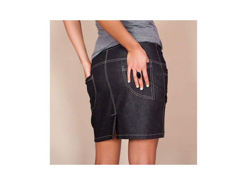 Těhotenská sukně s kapsami Jeans černá - Já Ty My 1d11213cf8