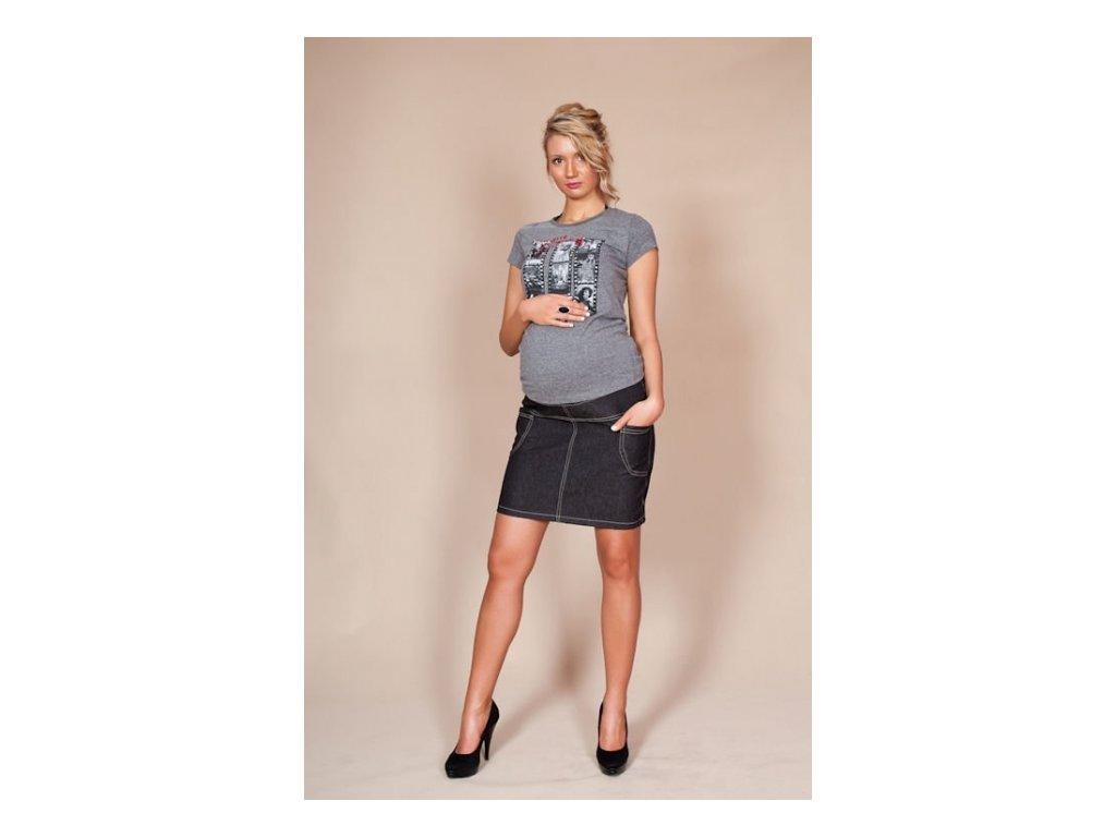 Těhotenská sukně s kapsami Jeans černá Těhotenská sukně s kapsami Jeans  černá 986c65c93b
