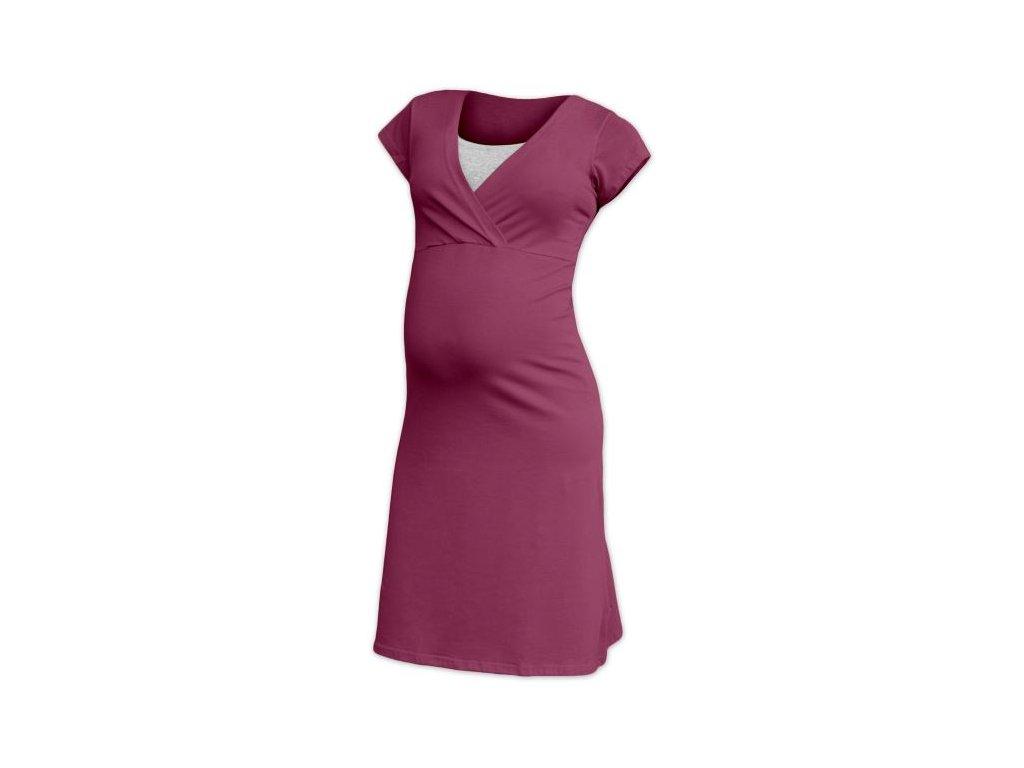 8f71c5915f Těhotenská a kojící noční košile Eva - cyklámen - Já Ty My
