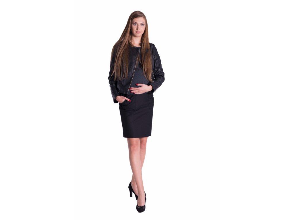 Těhotenská sukně Jeans - Černá - Já Ty My b48e81a930