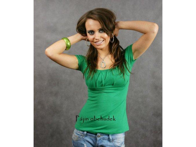 Tričko - ASIA tm. zelené