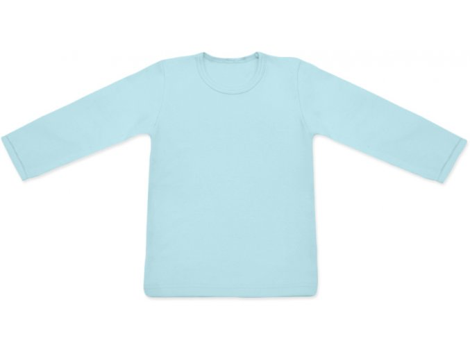 Triko s dlouhým rukávem - sv. modrá