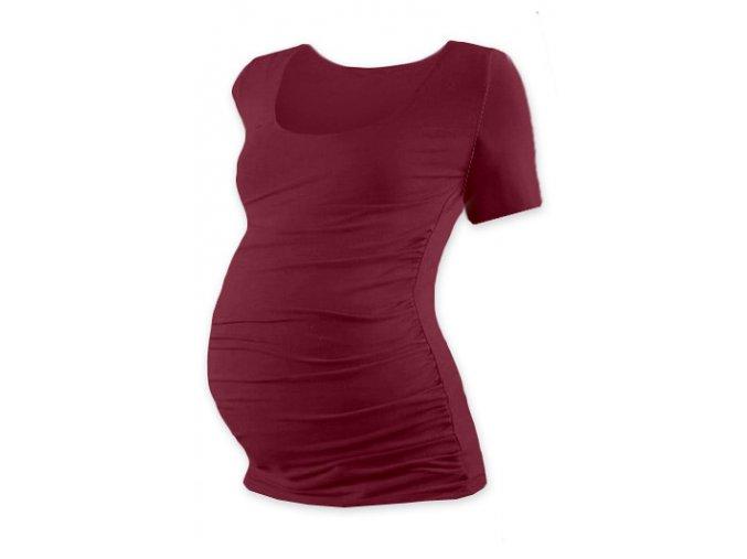 Těhotenské triko s krátkým rukávem - Lili bordó