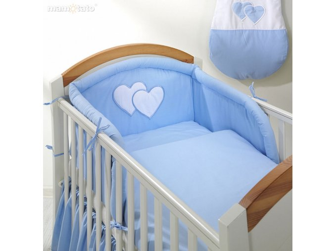 Povlečení - Srdíčka modré, 120x90 cm