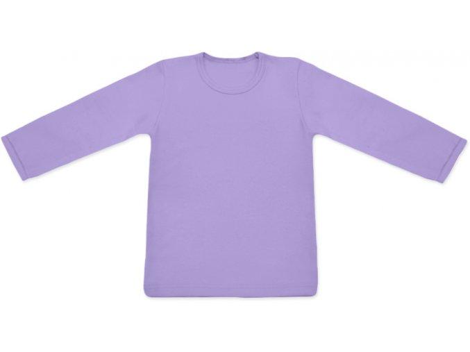 Tričko s dlouhým rukávem - levandulová