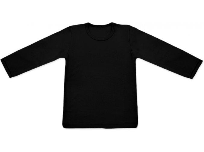 Triko s dlouhým rukávem - černá