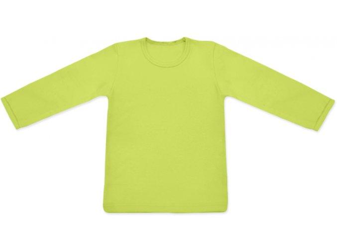 Triko s dlouhým rukávem - sv. zelená
