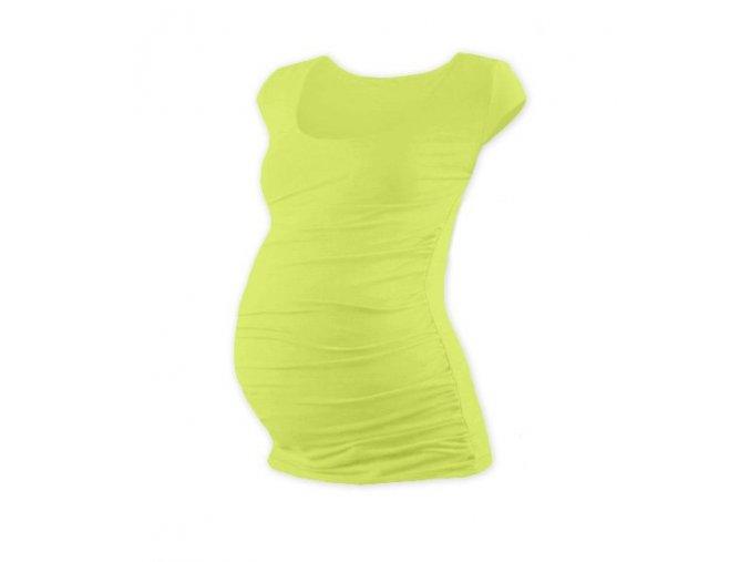 Těhotenské triko s mini rukávem - Lili sv. zelená