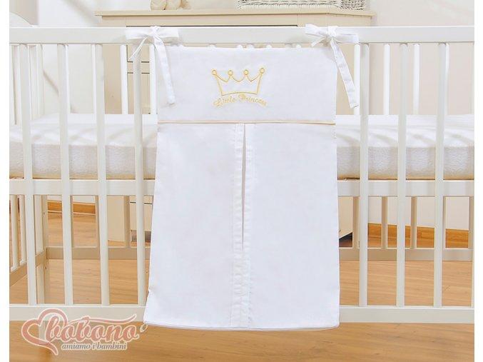 Kapsář na plenky - Little princess bílá