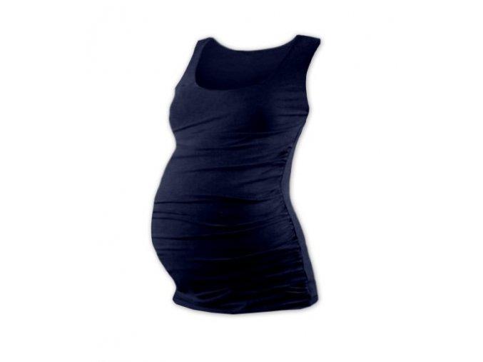 Těhotenské tílko - Lili tm. modrá