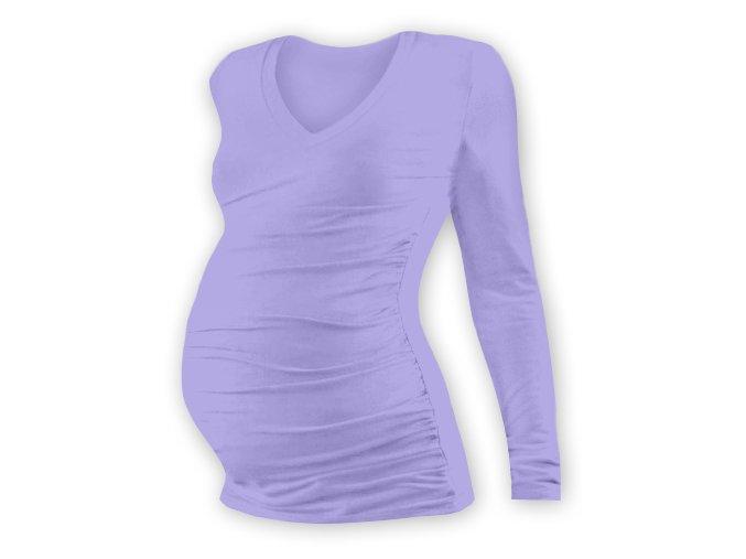 Těhotenské tričko s dlouhým rukávem - Lili V lila