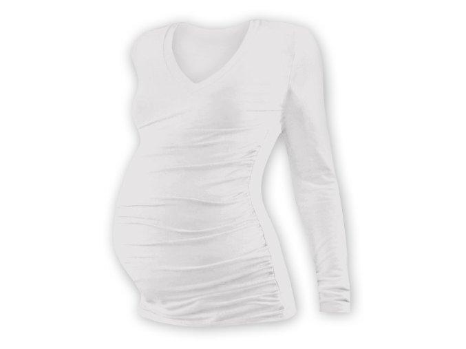 Těhotenské tričko s dlouhým rukávem - Lili V smetanová