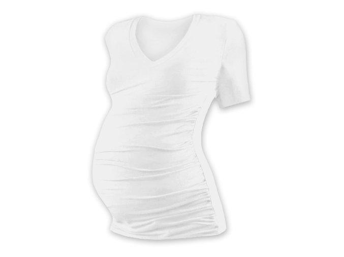 Těhotenské tričko s krátkým rukávem - Lili V smetanová