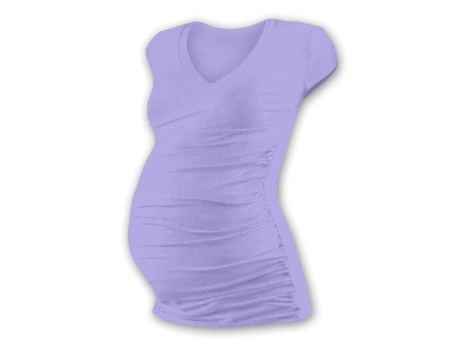Těhotenské tričko s mini rukávem - Lili V lila