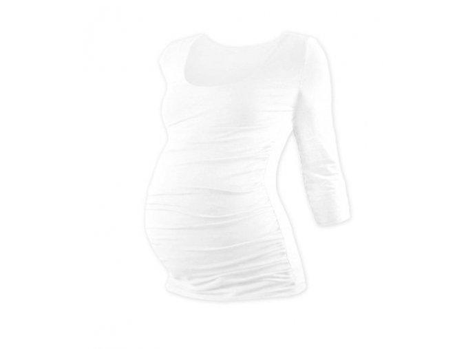 Těhotenské tričko se 3/4 rukávem - Lili bílá