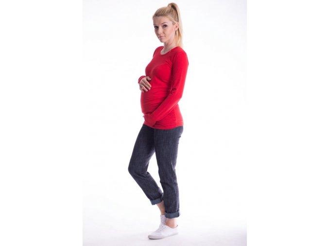 Těhotenské tričko - Ellis červené